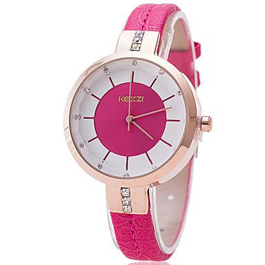 여성용 드레스 시계 패션 시계 모조 다이아몬드 시계 석영 캐쥬얼 시계 모조 다이아몬드 PU 밴드 블랙 화이트 블루 레드 그린 핑크