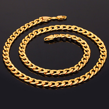 Kadın's Figaro Zinciri / Tıknaz Zincir Kolyeler - Altın Kaplama Moda Gümüş, Altın, Gül Altın Kolyeler Mücevher Uyumluluk Yılbaşı Hediyeleri, Düğün, Parti