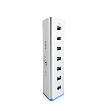 ssk 7 portos USB 3.0 hub shu370 alumínium 5Gbps SuperSpeed extender 5V 3.5a hálózati adapter USB 3.0 splitter