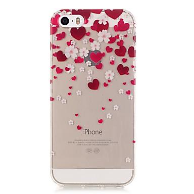 용 아이폰5케이스 울트라 씬 / 투명 / 패턴 케이스 뒷면 커버 케이스 심장 소프트 TPU iPhone SE/5s/5