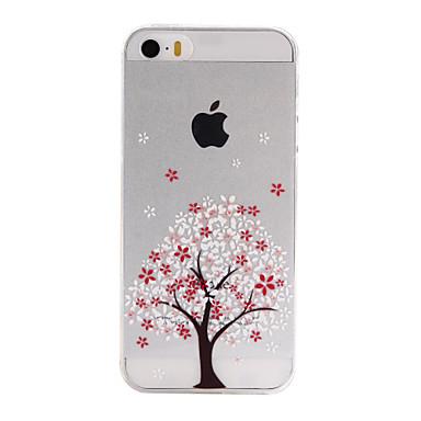케이스 제품 iPhone SE/5s/5 Apple 아이폰5케이스 울트라 씬 투명 패턴 뒷면 커버 나무 소프트 TPU 용 iPhone SE/5s iPhone 5