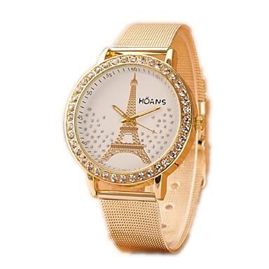 Női Divatos óra Szimulált Gyémánt Karóra Kvarc Alkalmi óra utánzat Diamond ötvözet Zenekar Ezüst Arany Aranyozott