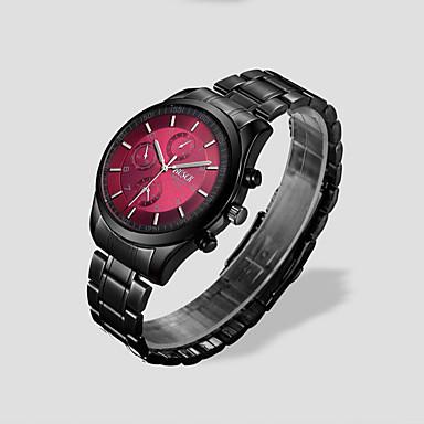 남성용 손목 시계 석영 방수 스테인레스 스틸 밴드 블랙 실버 브라운