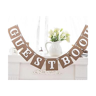 Esküvő / Évforduló / Eljegyzés / Lánybúcsú Kartonpapír Esküvői dekoráció Tengerparti téma / Kerti témák / Virágos téma Tél Tavasz Nyár Ősz