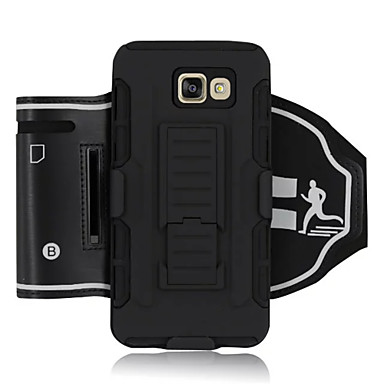 Mert Samsung Galaxy Note Ütésálló / Állvánnyal / Felkarkötő Case Karpánt Case Páncél Kemény Textil Samsung Note 5 / Note 4 / Note 3