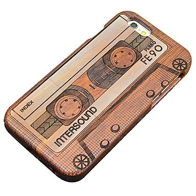 Mert iPhone 5 tok tokok Kártyatartó Pénztárca Állvánnyal Flip Minta Hátlap Case Szív Kemény Fa mert Apple iPhone SE/5s iPhone 5