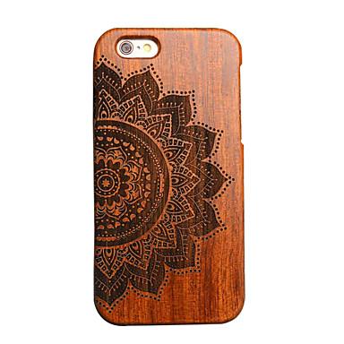 iphone 7 mais madeira flor sorte carving côncavo cobertura convexa rígido de volta para o iphone 6s 6 mais SE 5s 5