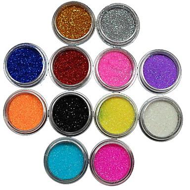 12 pcs Nail Jewelry / Glitter & Poudre / Diğer Süslemeler Mevye / Çiçek / Soyut Sevimli Günlük / Karikatür / Punk