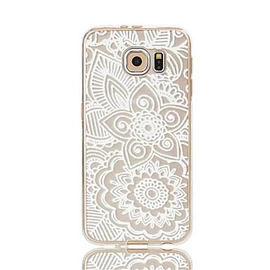 Mert Samsung Galaxy S7 Edge Átlátszó / Minta Case Hátlap Case Virág Puha TPU S7 edge / S7 / S6 edge / S6