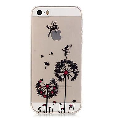 Case Kompatibilitás iPhone 5 tok Áttetsző Hátlap Pitypang Puha TPU mert iPhone SE/5s iPhone 5