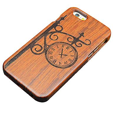 Para Capinha iPhone 5 Case Tampa Estampada Com Relevo Capa Traseira Capinha Desenho Animado Rígida Madeira para iPhone SE/5s iPhone 5
