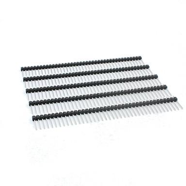 란다의 천서 TM-DIY 17mm 40 핀 2.54MM 피치 스트레이트 핀 헤더 - 블랙 (5PCS)