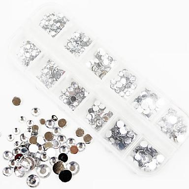 Tırnak Takısı Tatlı / Basit / Kristal / çizgili stil tırnak sanatı Manikür pedikür Klasik / Punk Günlük / Nail Jewelry / Sevimli