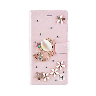 Mert Huawei tok / P9 / P9 Lite Pénztárca / Kártyatartó / Ütésálló / Strassz Case Teljes védelem Case 3D rajz Kemény Műbőr HuaweiHuawei P9