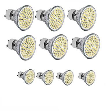 3.5W 300-350 lm GU10 GU5.3(MR16) E26/E27 LED 스팟 조명 MR16 60SMD LED가 SMD 2835 장식 따뜻한 화이트 차가운 화이트 110 ~ 130V DC 12 220V-241V