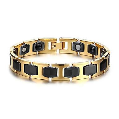 voordelige Fijne Sieraden-Heren Armbanden met ketting en sluiting Dames Europees Roestvast staal Armband sieraden Goud / Zwart Voor Dagelijks Causaal