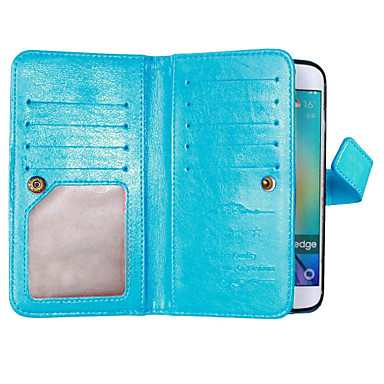 tok Για Samsung Galaxy Samsung Galaxy S7 Edge Θήκη καρτών Πορτοφόλι με βάση στήριξης Ανοιγόμενη Πλήρης Θήκη Συμπαγές Χρώμα Μαλακή PU δέρμα