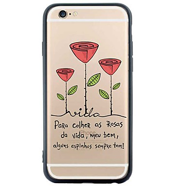 iphone 6s plus / 6 / iphone 6s / 6 TPU puha virág hátlap