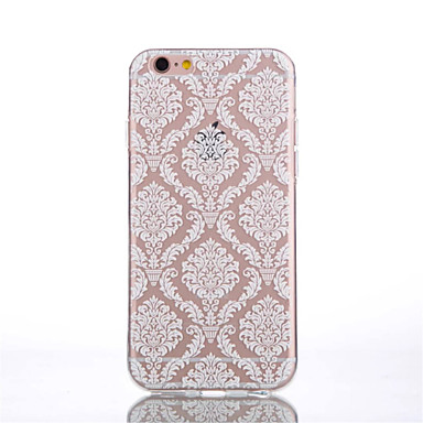 voordelige iPhone 7 hoesjes-hoesje Voor Apple iPhone 7 Plus / iPhone 7 / iPhone 6s Plus Transparant / Patroon Achterkant Cartoon / Lace Printing / Bloem Zacht TPU