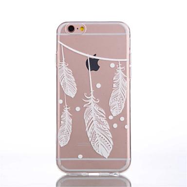 용 아이폰6케이스 / 아이폰6플러스 케이스 투명 / 패턴 케이스 뒷면 커버 케이스 깃털 소프트 TPU 아이폰 7 플러스 / 아이폰 (7) / iPhone 6s Plus/6 Plus / iPhone 6s/6