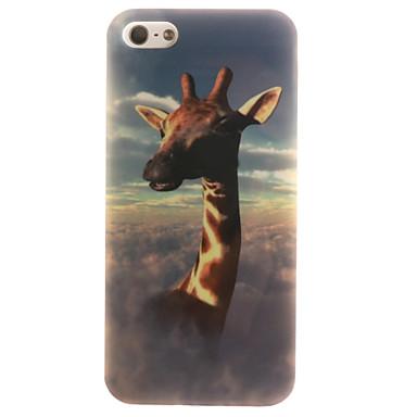 Mert iPhone 5 tok tokok IMD Hátlap Case Állat Puha TPU mert Apple iPhone SE/5s iPhone 5