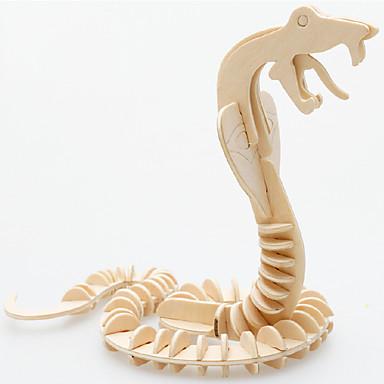 3D Yapbozlar Yapboz Ahşap Yapbozlar Ördek Yılan Eğlence Uygun Tahta Hediye