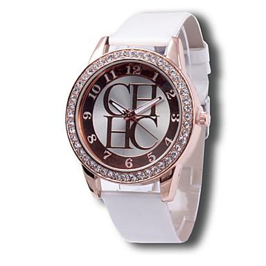 여성용 패션 시계 모조 다이아몬드 시계 캐쥬얼 시계 석영 캐쥬얼 시계 모조 다이아몬드 가죽 밴드 블랙 화이트 핑크 멀티컬러