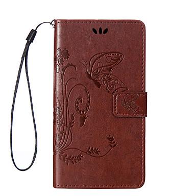 용 소니 케이스 / 엑스페리아Z5 카드 홀더 / 스탠드 / 패턴 케이스 풀 바디 케이스 단색 소프트 인조 가죽 용 Sony Sony Xperia Z5 / Sony Xperia M5