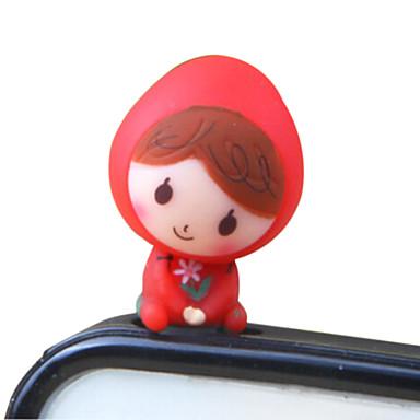 작은 빨간 승마 후드 아이폰 8 7에 대한 어린 소녀 전화 먼지 플러그 DIY 삼성 갤럭시 s8 s7