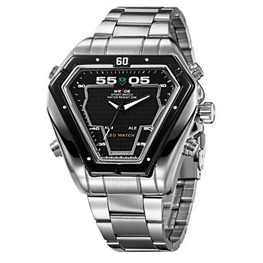 WEIDE Men's Quartz Japanese Quartz Wrist Watch Alarm Calendar / date / day Chronograph Water Resistant / Water Proof LED Dual Time Zones