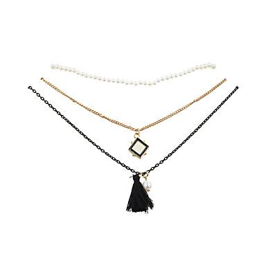 Női Geometric Shape Bojt Vintage Divat Ékszer készlet Rövid nyakláncok Nyaklánc medálok Gyanta Arannyal bevont Anyag Ötvözet Ékszer