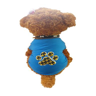 Cães Camiseta Azul Verão Desenhos Animados