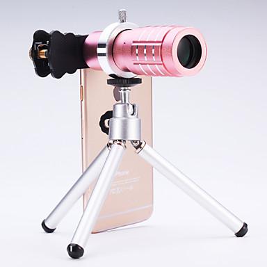 휴대 전화 아이폰 / 삼성 실버 / 골드에 대한 보편적 인 12 × 망원경 렌즈 / 블랙 / 로즈