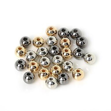 beadia 200db 6mm kerek akril CCB távtartó laza gyöngyök arany&vörös-&ródium bevonatú (1,6 mm lyuk)
