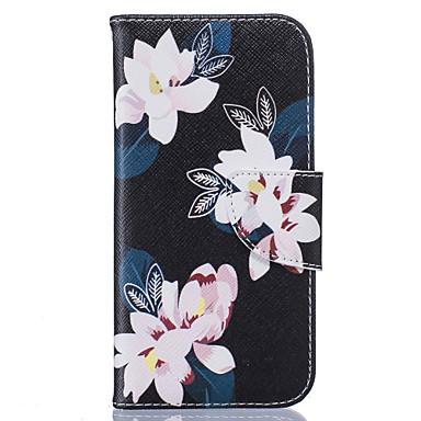 Mert iPhone 6 tok / iPhone 6 Plus tok Kártyatartó / Flip Case Teljes védelem Case Virág Puha Műbőr AppleiPhone 6s Plus/6 Plus / iPhone