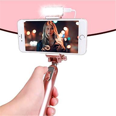 voordelige Bluetooth selfiestick-Bedraad selfie Stick Met Een Cable / Een Selfie Stick voor Android / iOS