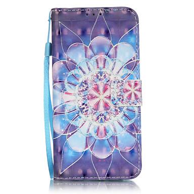 Mert Samsung Galaxy S7 Edge Kártyatartó / Pénztárca / Állvánnyal / Flip / Minta Case Teljes védelem Case Mandala Puha Műbőr SamsungS7