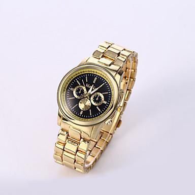 남성용 손목 시계 석영 캐쥬얼 시계 스테인레스 스틸 밴드 참 블랙 화이트