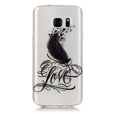 Mert Samsung Galaxy S7 Edge Átlátszó / Minta Case Hátlap Case Virág Puha TPU Samsung S7 edge / S7 / S6