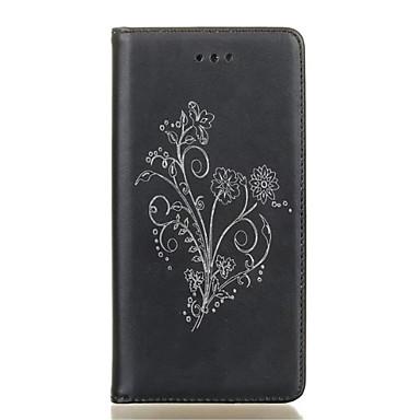 용 Samsung Galaxy S7 Edge 카드 홀더 / 스탠드 / 플립 / 패턴 케이스 풀 바디 케이스 꽃장식 소프트 인조 가죽 Samsung S7 edge / S7 / S6 edge / S6 / S5 Mini / S5
