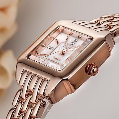 여성용 드레스 시계 팔찌 시계 석영 일본 쿼츠 / 합금 밴드 캐쥬얼 우아한 실버 로즈 골드