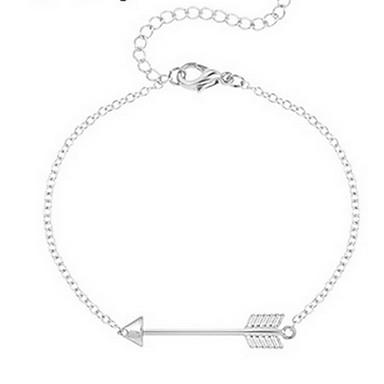 Női Lánc & láncszem karkötők - Divat Karkötők Ezüst / Aranyozott Kompatibilitás Karácsonyi ajándékok / Napi / Hétköznapi