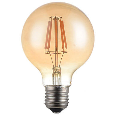 HRY 1pc 4W 360 lm E26/E27 LED Filament Bulbs G95 4 leds High Power LED Decorative Warm White AC 220-240V