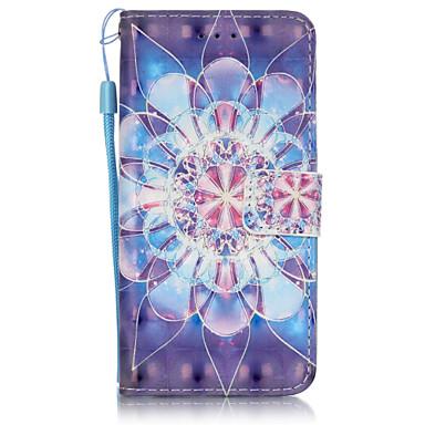 Mert iPhone 6 tok / iPhone 6 Plus tok Pénztárca / Kártyatartó / Flip Case Teljes védelem Case Virág Puha Műbőr AppleiPhone 6s Plus/6 Plus