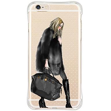 Mert iPhone 6 tok / iPhone 6 Plus tok Ütésálló / Vízálló Case Hátlap Case Szexi lány Puha TPU AppleiPhone 6s Plus/6 Plus / iPhone 6s/6 /