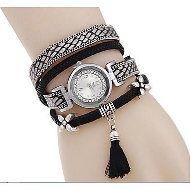여성용 패션 시계 팔찌 시계 모조 다이아몬드 시계 석영 / 모조 다이아몬드 합금 밴드 멋진 블랙 블루 레드 브라운 네이비