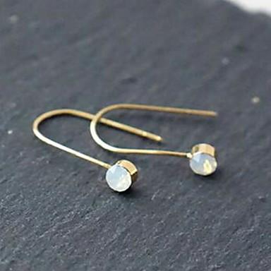 Divat Ezüst Arannyal bevont Geometric Shape Ezüst Aranyozott Ékszerek Mert Napi Hétköznapi 1 pár