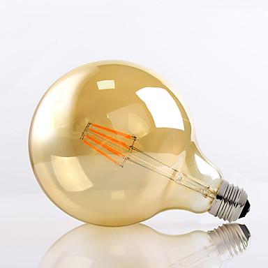 HRY 1db 8 W 650 lm E26/E27 Izzószálas LED lámpák G125 8 led Nagyteljesítményű LED Dekoratív Meleg fehér AC 220-240V