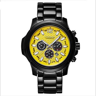 남성 패션 시계 방수 캐쥬얼 시계 석영 일본 쿼츠 합금 밴드 블랙