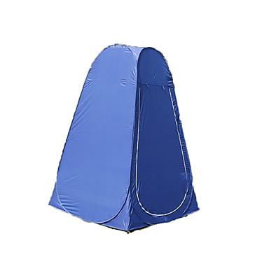 1 사람 텐트 쉘터 & 타프 싱글 캠핑 텐트 원 룸 드레싱 룸 텐트를 변경 수분 방지 빠른 드라이 통기성 용 캠핑 여행 야외 2000-3000 mm 120*120*190 CM